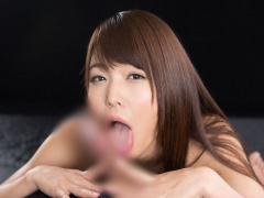 無修正 碧しのがイヤらしい舌使いでチンポを射精へと導く濃密フェラ抜き