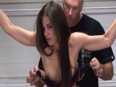 SM拘束スパンキング 外国人のストッキング穿きな超絶美女が 存在が卑猥 と...