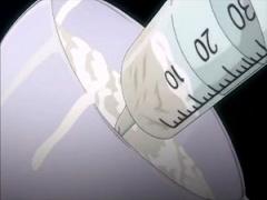 エロアニメ ザーメン大量注入完了! 妊婦を無理矢理に股開かせて注射器で特...