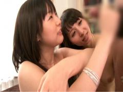 美少女2人による早漏チンポ強化訓練