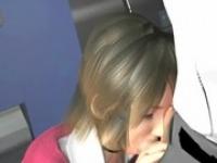 ロングペニスをねっとりしゃぶるOL エロCGアニメ