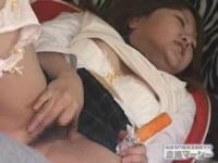 盗撮 処女な女子校生がフェラチオの練習をしながら自宅で本気オナニー
