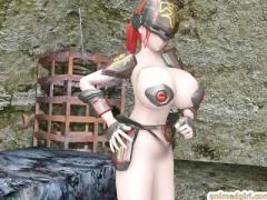 3Dエロアニメ 超爆乳おっぱい美女がふたなりの宇宙人みたいな巨乳おっぱい...