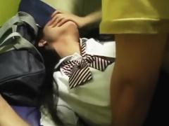 個人撮影 早期削除注意の激ヤバ流出映像! カラオケ店内でJKと円光SEXして...
