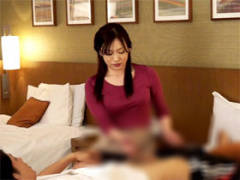 早川39歳 出張マッサージの美熟女にセンズリ見せつける客