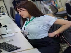 SOD社員×中出し 研究で射精の限界を調べるため爆乳美人女子社員が協力させ...