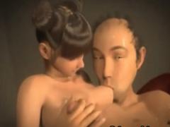 3Dエロアニメ 貧乳幼女が江頭みたいなハゲオッサンに犯されて乳をチュウチ...