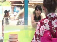 マジックミラー号 MM号 初対面の男女が混浴温泉でマッサージをやりあいSEX