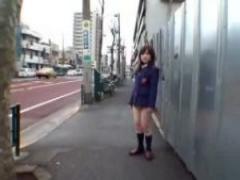 JK野外露出 女子校生を超ミニスカにして泪橋から山谷のドヤ街を徘徊させる...