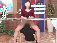 美人女子アナウンサーがエロいことをされても動じないニュースを番組! !