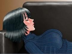 """某一発KO系漫画の""""ふぶき""""がイラマチオ責めで辱められる同人 こんな着衣お..."""