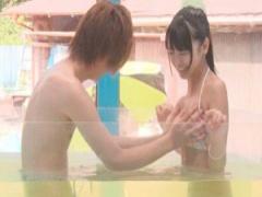 素人ナンパ MM号 知らない男性と一緒に温泉に入ることに! マッサージで素...