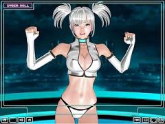 3Dエロアニメ 宇宙服みたいなコスプレした超カワイ子ちゃんがダンスしまく...