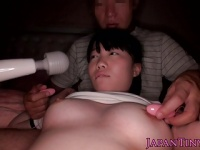 童顔巨乳な素人娘が援交で体操着着衣で3Pハメ撮りする記録映像