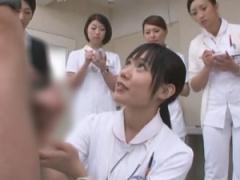 手コキクリニック 患者の精液採取をする為の研修で手淫のテクニックを新人...