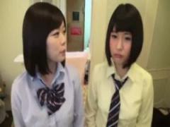 JK中出し 二人の素人制服jkをホテルに連れ込んでAV撮影…最初は女子校生の...