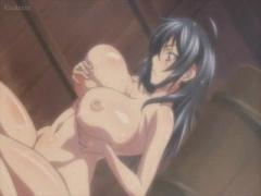 エロアニメ デカパイ女忍者娘のちょっとセクシー入浴シーン!