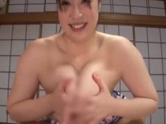 Jカップの爆乳お姉さんとのしっぽり浴衣セックス 乳圧すごすぎパイズリで...