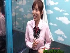 激カワ制服JKがイケメン男性とキスしまくりwww マジックミラー号 MM号動画