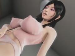 淫乱娘を電車内でレイプ痴漢な3Dエロアニメ