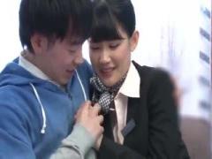 ついに白咲碧ちゃんがCAコスプレでミラー号の筆下ろしに挑戦wwww マジック...