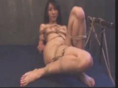 スレンダー美女がロープで緊縛されてハメられる一部始終! 浣腸からの生ハ...