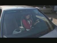 車の中でオナニーしていたのを見ていた男に追いかけられて犯される!