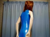 レオタードを着た2,5次元女装子のオナニー