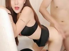ライブチャット 無修正 韓国美女がバックからピストンされてマジイキセッ...