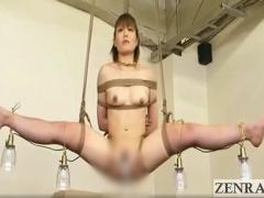 人身売買 マダムたちが緊縛拘束された美女たちの奴隷オークションSM動画