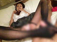 黒髪ロングヘアーの激カワ美少女JKが円光! パンスト着衣のままで中年オヤ...