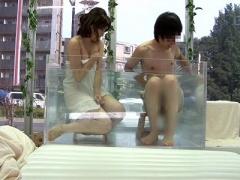 素人ナンパ企画 美少女! 巨乳爆乳おっぱいな美人JDお姉さんが混浴温泉 美...