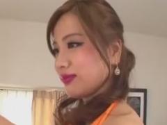 網タイツ巨乳ギャル痴女の目隠し手コキで悶絶させられるM男動画