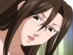 エロアニメ 男を誘惑して巨根ペニス手コキで喜ばしちゃう淫乱エロ痴女爆乳...