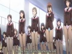 エロアニメ 校則を破った生徒はスカート禁止! とんでもない教育者によるセクハラ指導! 更に素っ裸での罰まで待っている変態スパルタ学校!
