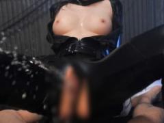性的拷問で性感開発から快楽地獄へ! 美乳女捜査官輪姦 キャットスーツ着衣...