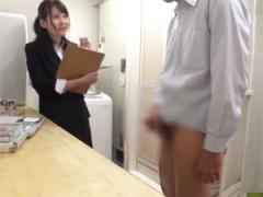 SOD女子社員が素人男性のオナニーサポート!
