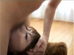 ボディコン爆乳美女が頭を掴まれて根元までちんぽを咥えさせられて強制イ...
