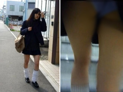 素人JK盗撮 町で見つけた女子校生ギャルを尾行してパンチラ隠し撮りしてみ...