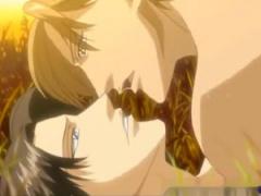 エロアニメ BL イケメン武士が夕暮れの野原で愛を確かめ合う