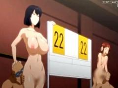 黒ギャルVS白ギャル! 痴女エッチ対決! 男達の大量ザーメンをヌキヌキ最高 エロアニメ