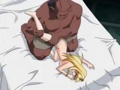 エロアニメ この図体のクリーチャーにちんぽ挿入されたら確実に子宮破壊な...