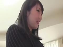 痴女OLによる目隠しアナル舐め手袋手コキで絶頂させられるM男動画
