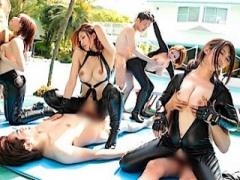 淫乱スーパーボディの女性捜査官が淫華温泉で大乱交