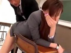 痴女 ズブズブセックス大好き女教師が過激ズブズブセックス! !