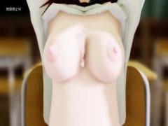 3Dエロアニメ 時間停止能力を持っているのでほらこの通り女子生徒がおっぱ...