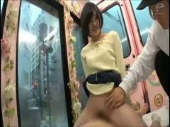 マジックミラー便 法律を学ぶ賢い女子大生がMM便内で騎乗位腰振り!