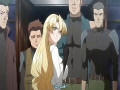 エロアニメ 金髪ツンデレ爆乳スタイル抜群美女が男に極太ペニスを挿入され...
