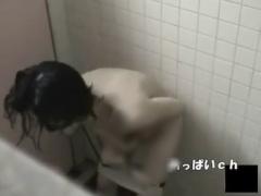 トイレ盗撮 スイミングスクールに通う美人OLさんがトイレでオナニーする姿...