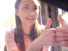素人ナンパ ちっぱいけど超美人! 台湾から観光に来てた美少女JDメイランち...